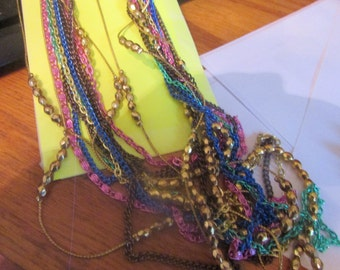 fantastic chain layer necklace