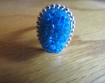 blue  cluster ring