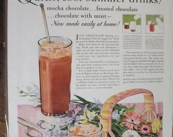 249 Baker's Cocoa  Ad  - 1928