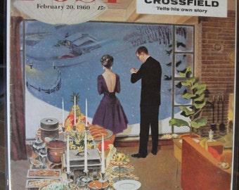 EVER 139  The Saturday Evening Post Front Cover Only - Feb. 1960