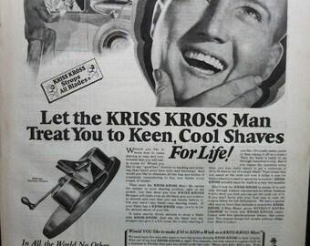 "Toil ... 154   ""Rhodes' Kriss Kross Stropper""  Ad - October 1928"