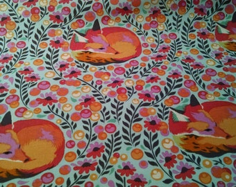 Sale: Use 15Off coupon to get 15% off, Tula Pink Chipper Fabric, Sleeping Fox, Sorbet,