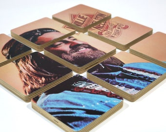WILLIE NELSON recycled The Sound in Your Mind music album coasters with record bowl