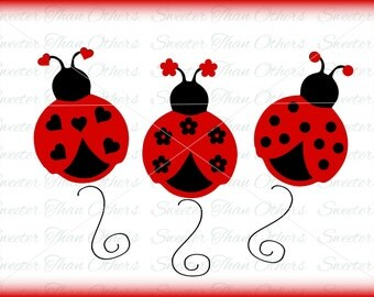 Ladybugs Ladybug Girl Insect svg Vinyl Design SVG, Dxf, Silhouette, Cricut, Cameo, INSTANT DOWNLOAD, Scal, Mtc, Studio Cut file, htv