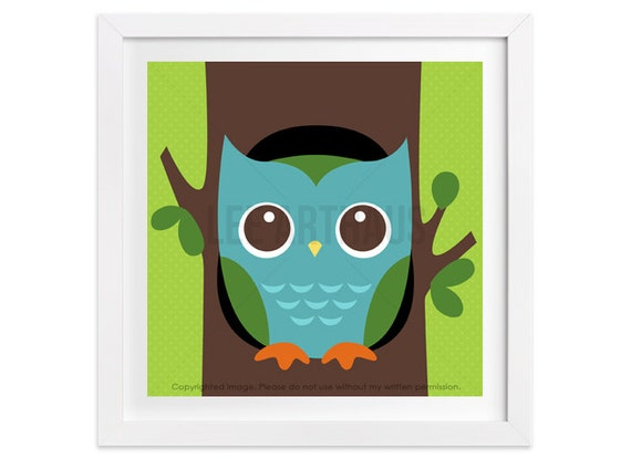 20 Owl Nursery Decor - Owl in Tree Wall Art - Owl Print - Owl Poster - Owl Room Decor - Owl Home Decor - Owl Picture - Owl Drawing - Owl Art