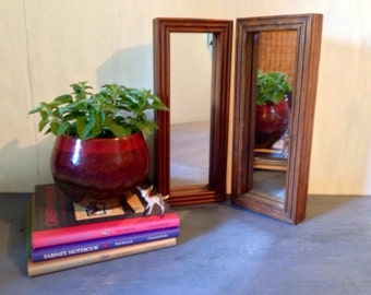 wood framed mirrors - small wall mirror