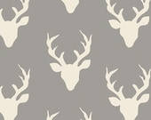 KNIT Buck Forest in Mist From Hello, Bear by Bonnie Christine For Art Gallery Fabrics K-4434