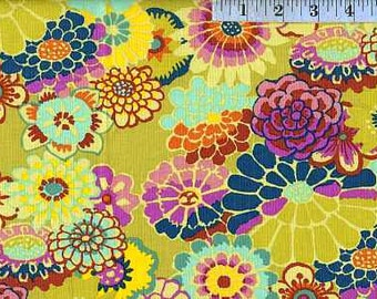 Asian Circles Chartreuse GP89 - Kaffe Fassett Classics 100% Quilters Cotton Available in Fat Quarter, Half Yard, Yard
