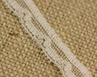 1.5 Yards of Vintage Lace in Beige 0.5 Inches Wide