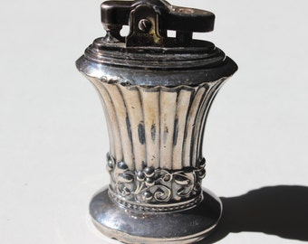 Vintage Silverplate Table Top Lighter Ronson Newport Patent 19023 Made in Newark NJ