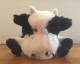 Cow Cattle Western Country Soft Plush Stuffed Animal with HANDCRAFTED GRAPHIC VAGINA mature dirty santa gag gift