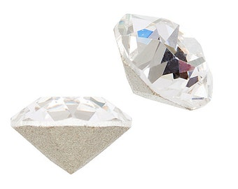 4 Pieces Swarovski 1088 Xirius Round Pointed Back Rhinestones-Foiled Crystal SS39 (SW67001)