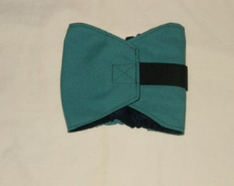 "New Teal Male Dog Belly Band | 17""-21"" Dog Diaper 
