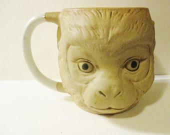 Vtge 3D Ceramic Monkey Ape Face Head Coffee Mug