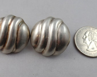 Sterling Silver 1 Inch in Diameter Earrings Made in Mexico