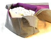 Large Coupon Organizer, Coupon Holder, Coupon Purse, Ready to Ship, Houndstooth Fabric