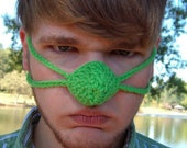 Grinch color  Nose Warmer, St. Patrick's Day Christmas, Tween Teen, Adult Unisex, Nose Cozy Mitten,Vegan Friendly, Outdoor Sports, Hunting,