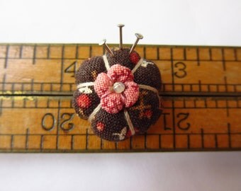 Miniature Pincushion -MADE for YOUR DOLL in Cinnamon Spice