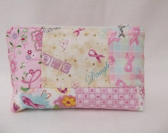 Cosmetic, Toiletry bag, tissue holder, sewing supply bag, breast cancer bag