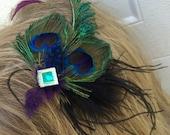Peacock Hair Fascinator READY To SHIP