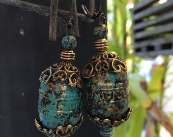 Rustic Blue Dangle Earrings (Pick One)