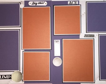 VOLLEYBALL Scrapbook Page Premade Layout 12 x 12 Girl Boy Volleyball