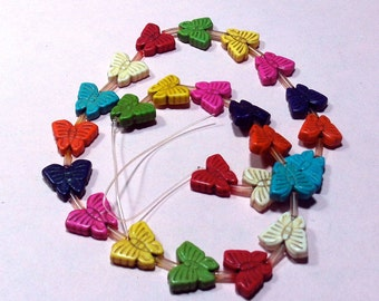 Temp Magnesite Butterfly Beads craft Supplies  beading supplies  diy  necklace bracelet earrings