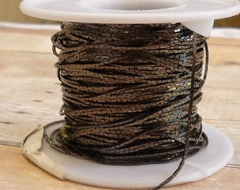 Summer Sale 100 Foot Spool Cobra Serpentine Chain,  Gunmetal Wholesale Plated Copper