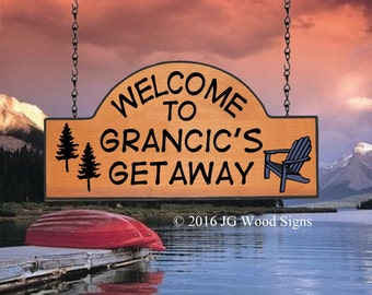 Etsy RV Camping Sign Adirondack Chair Pine Tree Wood Sign - Our Cottage Cabin Lake Custom Camping Sign JGWOODSIGN Wood Camping Sign Grancic