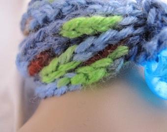Blue Multicolor Wrap Bracelet/Necklace (5294)