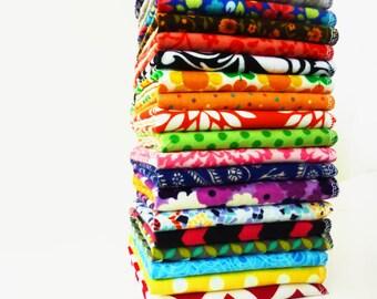 20 Modern Cloth Napkins - Reusable Paper Towels - Bright Flannel Napkins - Unpaper Towels - Kids Napkins - Soft - Eco Friendly - 9 x 10