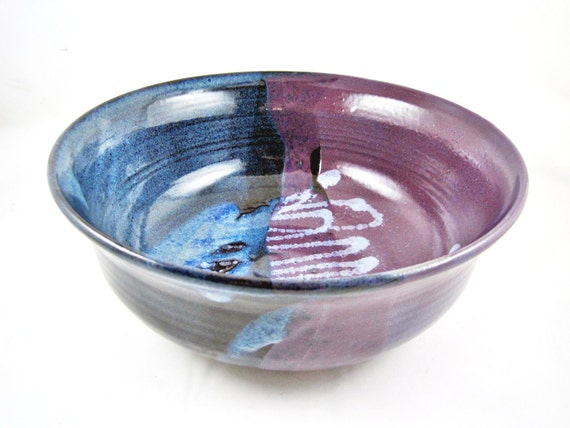 9th Anniversary Pottery For Wedding: Pottery Wedding Gift Serving Bowl 9th By Ningswonderworld