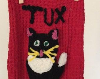 Sweet Tuxdo Kitty kitchen Towel