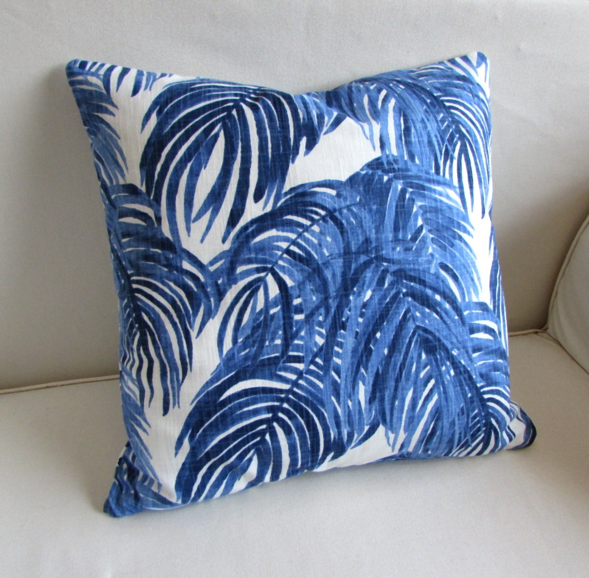 CALICO WEDGEWOOD decorative Pillow cover blue 18x18 20x20