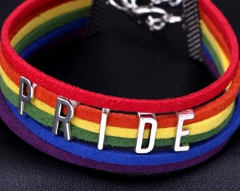 Gay pride colours bangle