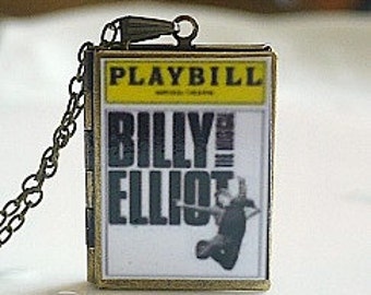 Billy Elliot, Elton John, Musical Theater, West End Musicals, Broadway Theatre, Tony Award Best Musical, Playbill Locket Necklace