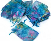 """50 4""""x6"""" Coralline Organza Jewelry Pouch Bag Packaging Supplies"""
