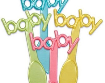 Baby Shower Spoon Picks Cupcake Toppers Baking Supplies
