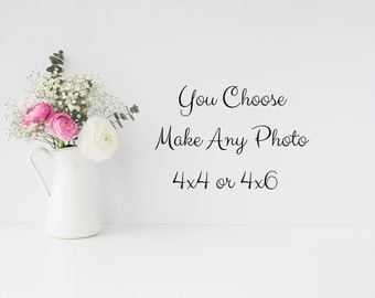 Personalize Any Fine Art Print - Customize Small Size Photo Print Choose 4x4 or 4x6 Sizes You Choose Any Photo Fine Art Photography
