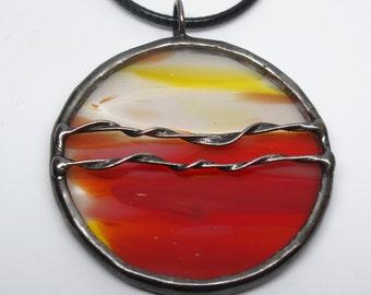 Sahara Sun - Stained Glass Pendant