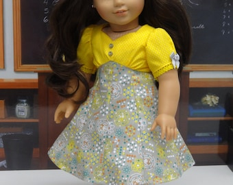 Chemistry Class - Vintage styled dress for American Girl