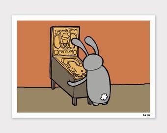 Pinball Bunny Print