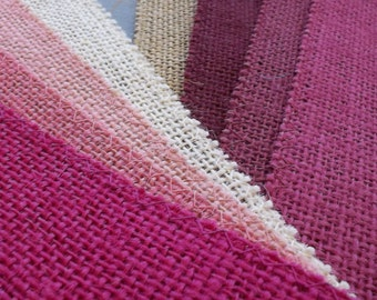 PINK Burlap Fabric By the Yard - 58 - 60 inches wide