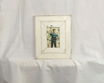Reclaimed Wood 4x6 Picture Frame Photo Shabby White Cottage Chic 406-16
