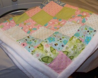 Hand Crafted Baby Blanket for a Real Baby Girl