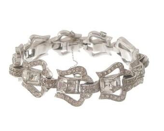 Art Deco Bracelet, 1920s Vintage Mazer Designer, Original Antique Statement Jewelry, Art Deco Jewellery