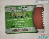 Football Birthday Invitation, Football Birthday Invite, Custom Printable #B119