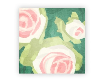 Abstract Floral Wall Art - Roses Painting