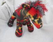Navajo blanket horse, gray fire, pendleton inspired, stuffed animal, plush, plushie, pendleton blanket, native indian, stuffed horse
