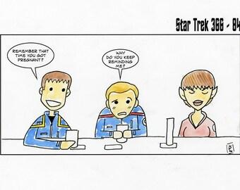 At the 602 Club - illustration inspired by Star Trek Enterprise - part of the Star Trek 366